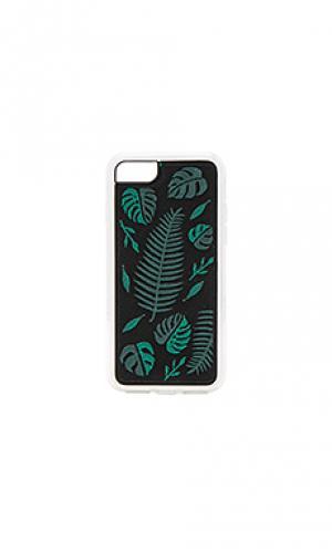 Чехол с вышивкой для iphone 6/7 fern ZERO GRAVITY. Цвет: черный