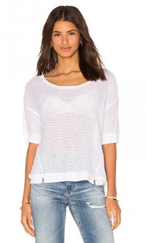 Прямая сеточная футболка Bella Luxx. Цвет: белый