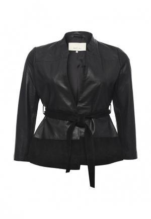 Куртка кожаная LOST INK PLUS. Цвет: черный