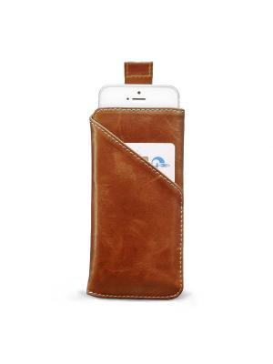 Чехол для iPhone 5/5s/SE ZAVTRA. Цвет: коричневый
