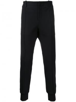 Спортивные брюки с отделкой в рубчик Wooyoungmi. Цвет: чёрный