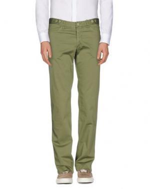 Повседневные брюки REPORTER. Цвет: зеленый-милитари