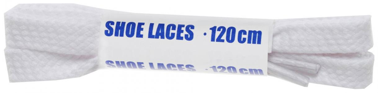 Шнурки белые плоские  Sport, 120 см Woly
