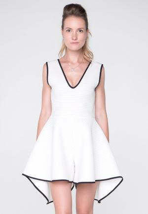Комбинезон Monosuit. Цвет: белый