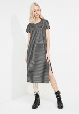 Платье Twin-Set Simona Barbieri. Цвет: серый