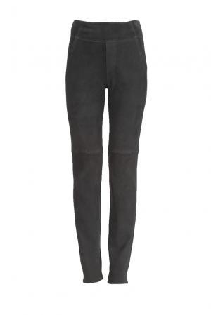 Замшевые брюки 160427 Jitrois. Цвет: серый
