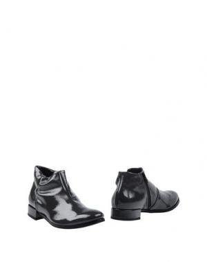Полусапоги и высокие ботинки LILIMILL. Цвет: стальной серый