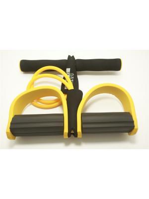 Эспандер для укрепления мышц рук и плечевого пояса, ЭВА, 8x12x100см SilaPro. Цвет: желтый