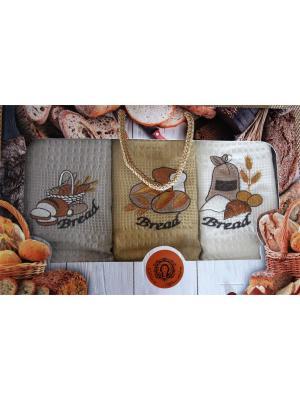 Набор кухонных полотенец в подарочной коробке Diva Afrodita. Цвет: коричневый, бежевый
