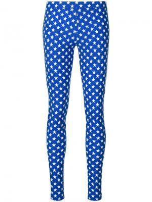 Леггинсы с принтом звезд Givenchy. Цвет: синий