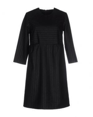 Короткое платье CORINNA CAON. Цвет: стальной серый