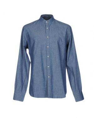 Джинсовая рубашка MYTHS. Цвет: синий
