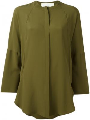 Классическая рубашка 8pm. Цвет: зелёный
