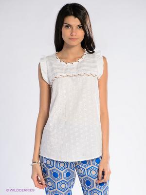 Блузка SILVIAN HEACH. Цвет: белый