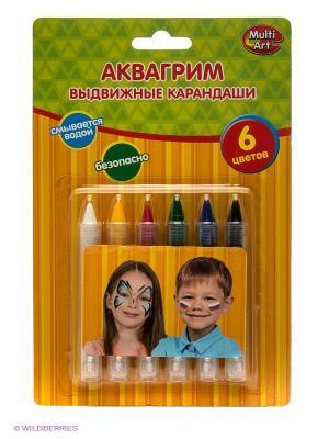 Аквагрим-карандаши Играем вместе. Цвет: оранжевый, зеленый