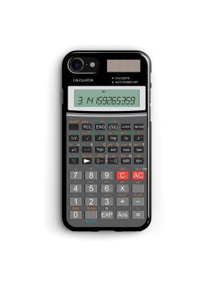 Чехол для iPhone 7/8 Калькулятор Boom Case. Цвет: антрацитовый, серый