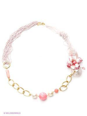 Колье Maru by Safri. Цвет: розовый