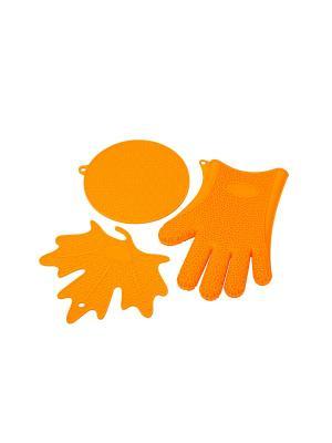 Набор кухонных аксессуаров OURSSON. Цвет: оранжевый