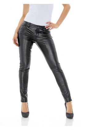 Кожаные брюки PATRIZIA DINI by Heine. Цвет: светло-коричневый, темно-синий, темный серо-коричневый, черный, шоколадно-коричневый, ягодный