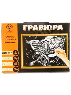 Набор для создания гравюры Валькирия 21х30 см Фабрика Фантазий. Цвет: черный