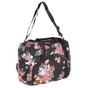 Сумка для ноутбука женская  Going Study Laptop Bag Black Volcom. Цвет: черный,розовый