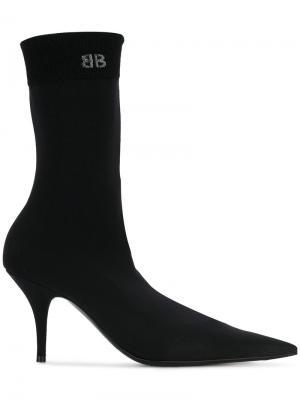 Ботинки Knife 80 Balenciaga. Цвет: чёрный