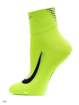 Носки U NK ELT LTWT QT Nike. Цвет: салатовый