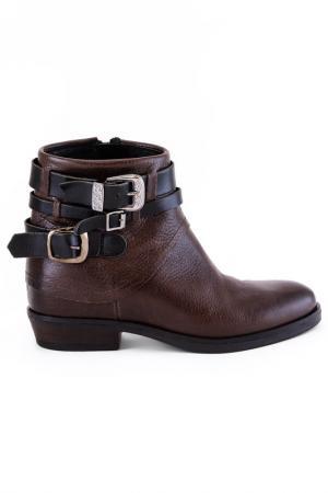 Ботинки женские утеплённые Elena. Цвет: коричневый, черный