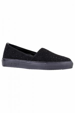 Туфли со стразами Loriblu. Цвет: черный