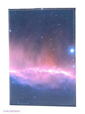 Обложка для автодокументов Ночное небо Mitya Veselkov. Цвет: темно-синий, синий, фуксия