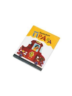 Обложка для автодокументов Кажан. Цвет: красный, белый, желтый