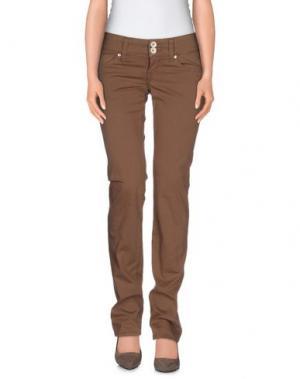 Повседневные брюки NOLITA DE NIMES. Цвет: коричневый