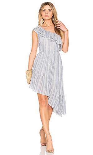 Платье pamela LoveShackFancy. Цвет: синий