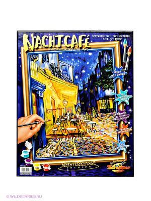 Раскраска по номерам Ночное кафе Ван Гог Schipper. Цвет: синий, желтый