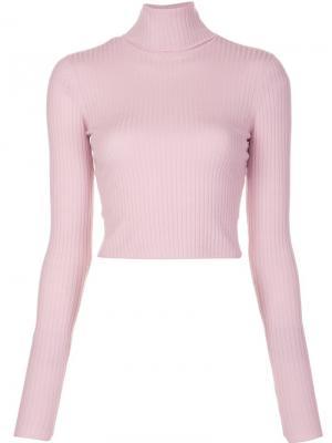 Turtleneck cropped jumper A.L.C.. Цвет: розовый и фиолетовый