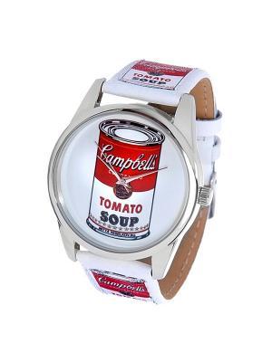 Часы Mitya Veselkov. Цвет: белый, красный