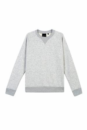 Хлопковый пуловер BLANK.MOSCOW. Цвет: серый