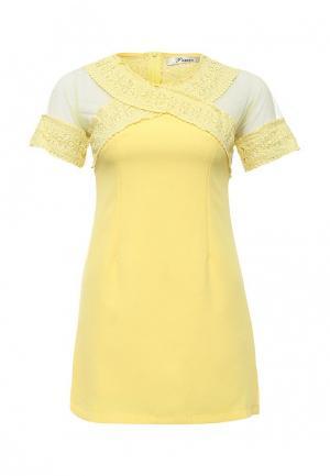 Платье Paccio. Цвет: желтый