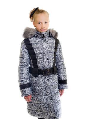 Пальто для девочки Пралеска. Цвет: серый
