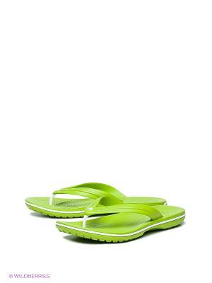 Шлепанцы CROCS. Цвет: салатовый