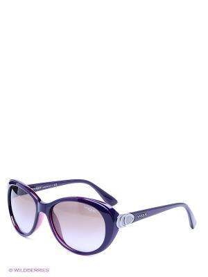 Очки солнцезащитные Vogue. Цвет: светло-коричневый, фиолетовый