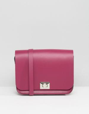 Leather Satchel Company Сумочка через плечо. Цвет: розовый