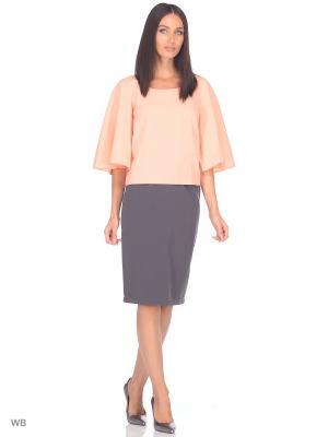 Блузка BERTEN. Цвет: персиковый