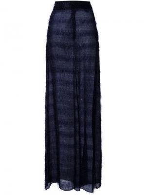 Длинная юбка с мишурой Scanlan Theodore. Цвет: синий