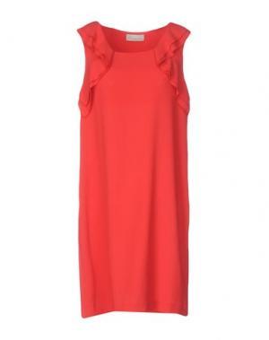 Короткое платье ALYSI. Цвет: красный