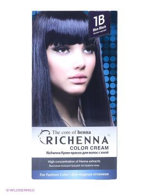 Крем-краска для волос Richenna. Цвет: черный, темно-синий