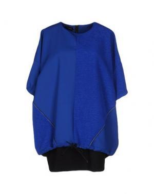 Короткое платье JULIAN KEEN. Цвет: ярко-синий
