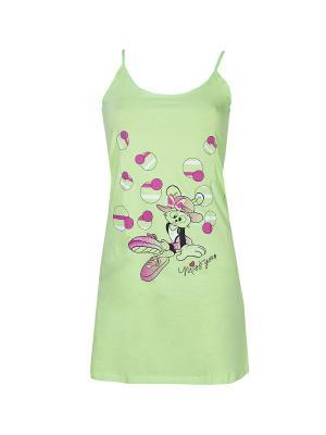 Сорочка Nicoletta.. Цвет: салатовый,фиолетовый