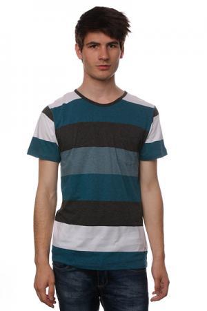 Футболка  Stanfield Knit Blue Ezekiel. Цвет: зеленый,черный