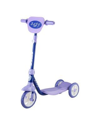Самокат городской Foxx Baby с пластиковой платформой и EVA колесами 115мм (и.упак.), щиток, ультрама. Цвет: сиреневый